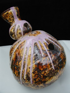 Clay Udu Durm in purble adn orange